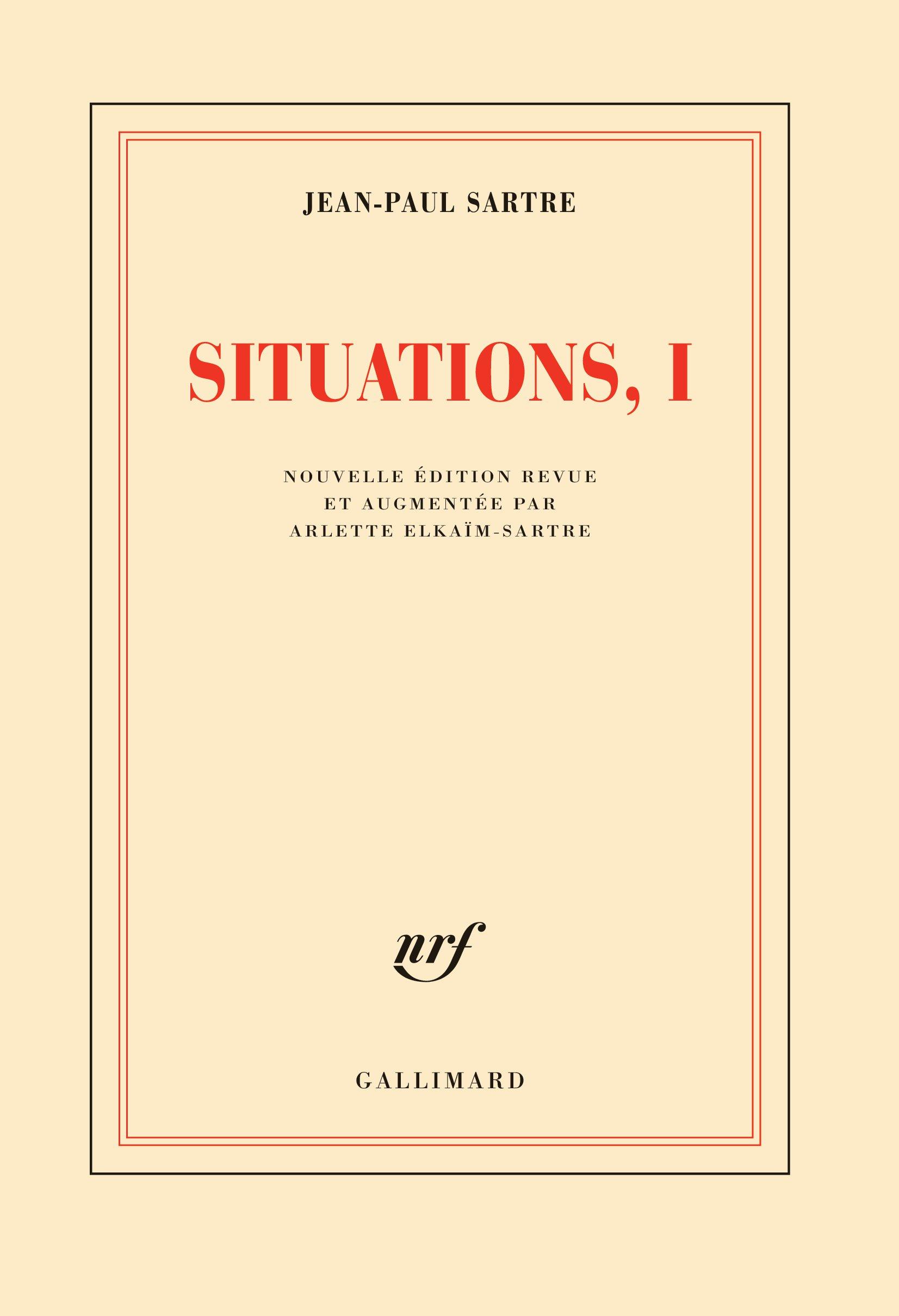 Situations (Tome 1) - Février 1938 - septembre 1944
