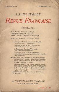 La Nouvelle Revue Française N' 48 (Décembre 1912)