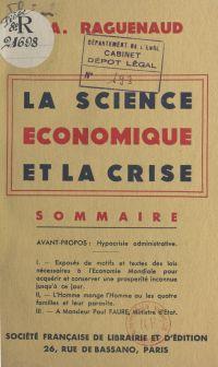 La science économique et la...