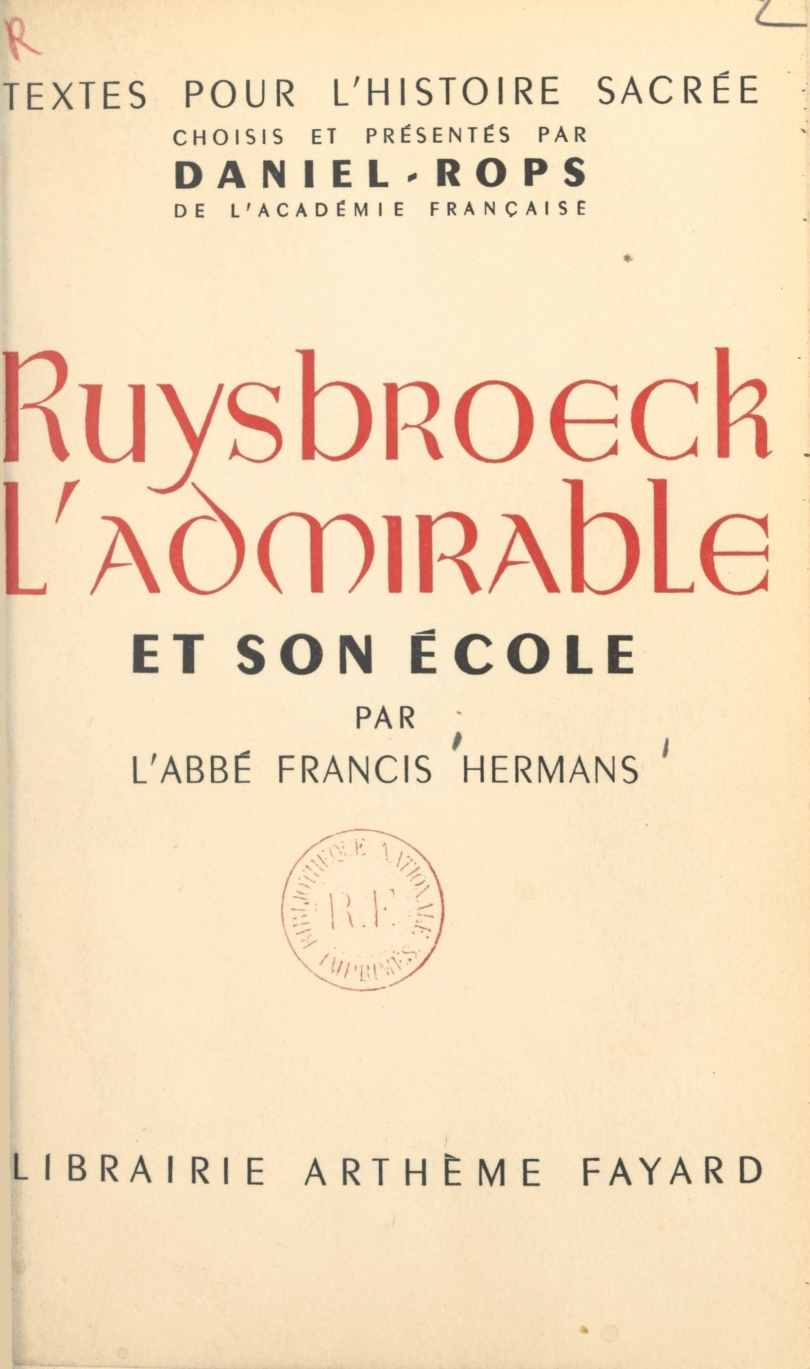 Ruysbroeck l'admirable et s...