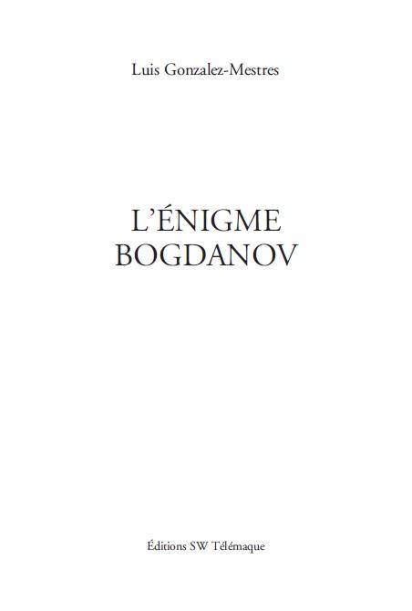 L'Énigme Bogdanov