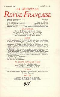 La Nouvelle Revue Française N' 122 (Février 1963)