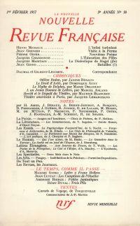 La Nouvelle Nouvelle Revue Française N' 50 (Février 1957)