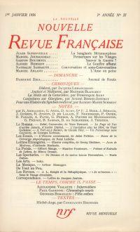 La Nouvelle Nouvelle Revue Française N' 37 (Janvier 1956)