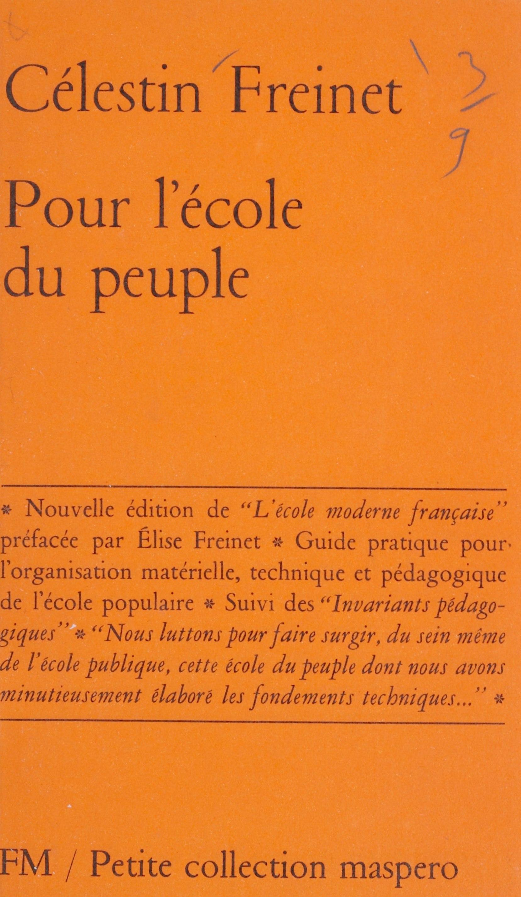Pour l'école du peuple, GUIDE PRATIQUE POUR L'ORGANISATION MATÉRIELLE, TECHNIQUE ET PÉDAGOGIQUE DE L'ÉCOLE POPULAIRE