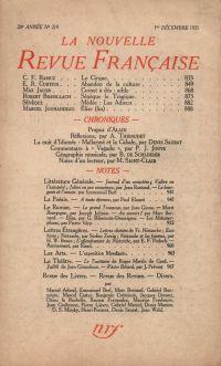 La Nouvelle Revue Française N' 219 (Décembre 1931)