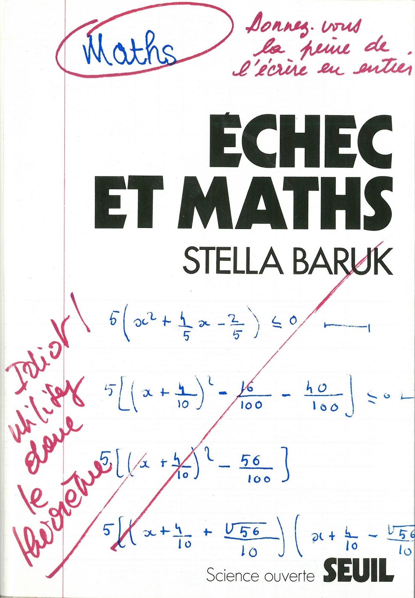 Echec et Maths