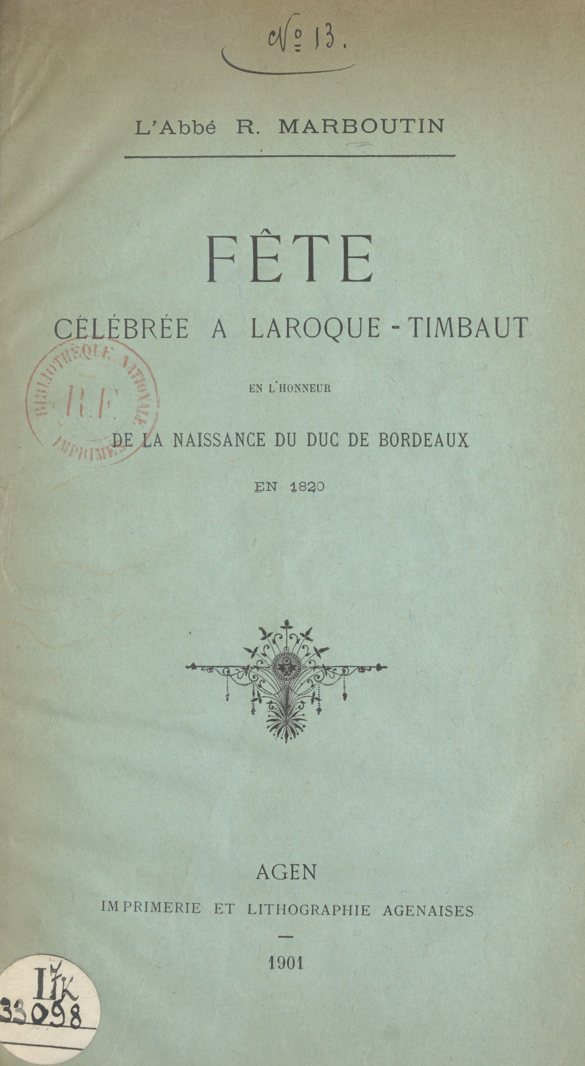 Fête célébrée à Laroque-Tim...