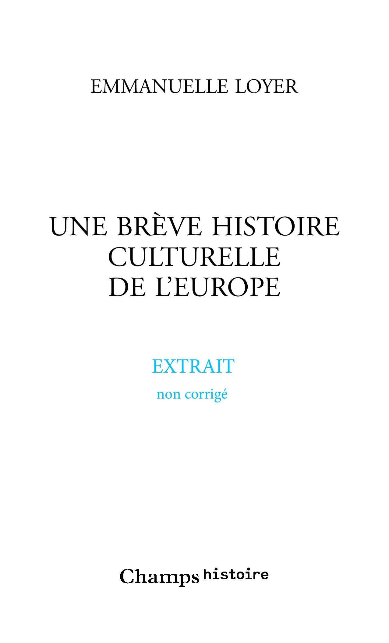 Une brève histoire culturel...