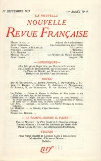 La Nouvelle Nouvelle Revue Française N' 9 (Septembre 1953)