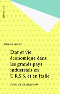 État et vie économique dans...