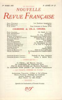 La Nouvelle Nouvelle Revue Française N' 27 (Mars 1955)