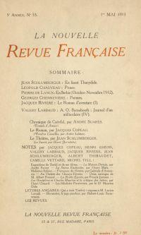 La Nouvelle Revue Française N' 53 (Mai 1913)