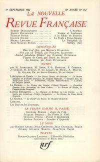 La Nouvelle Revue Française N' 117 (Septembre 1962)