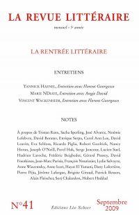 La Revue Littéraire N°41