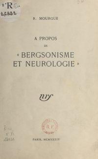 À propos de Bergsonisme et ...