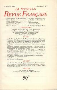 La Nouvelle Revue Française N' 127 (Juillet 1963)