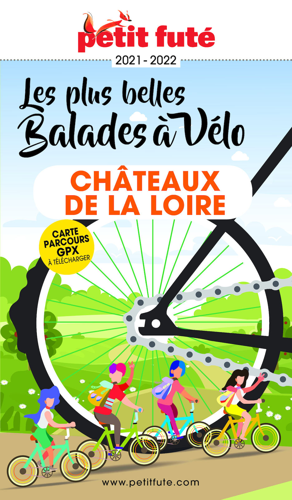BALADES À VÉLO CHÂTEAUX DE LA LOIRE 2021/2022 Petit Futé | Auzias, Dominique. Auteur