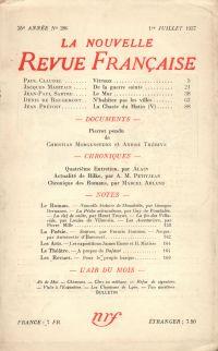 La Nouvelle Revue Française N° 286 (Juillet 1937)