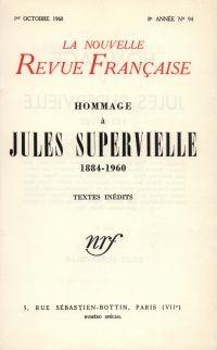 Hommage ŕ Jules Supervielle N' 94 (Octobre 1960)