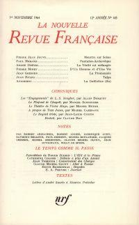 La Nouvelle Revue Française N' 143 (Novembre 1964)