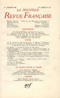 La Nouvelle Revue Française N' 121 (Janvier 1963)
