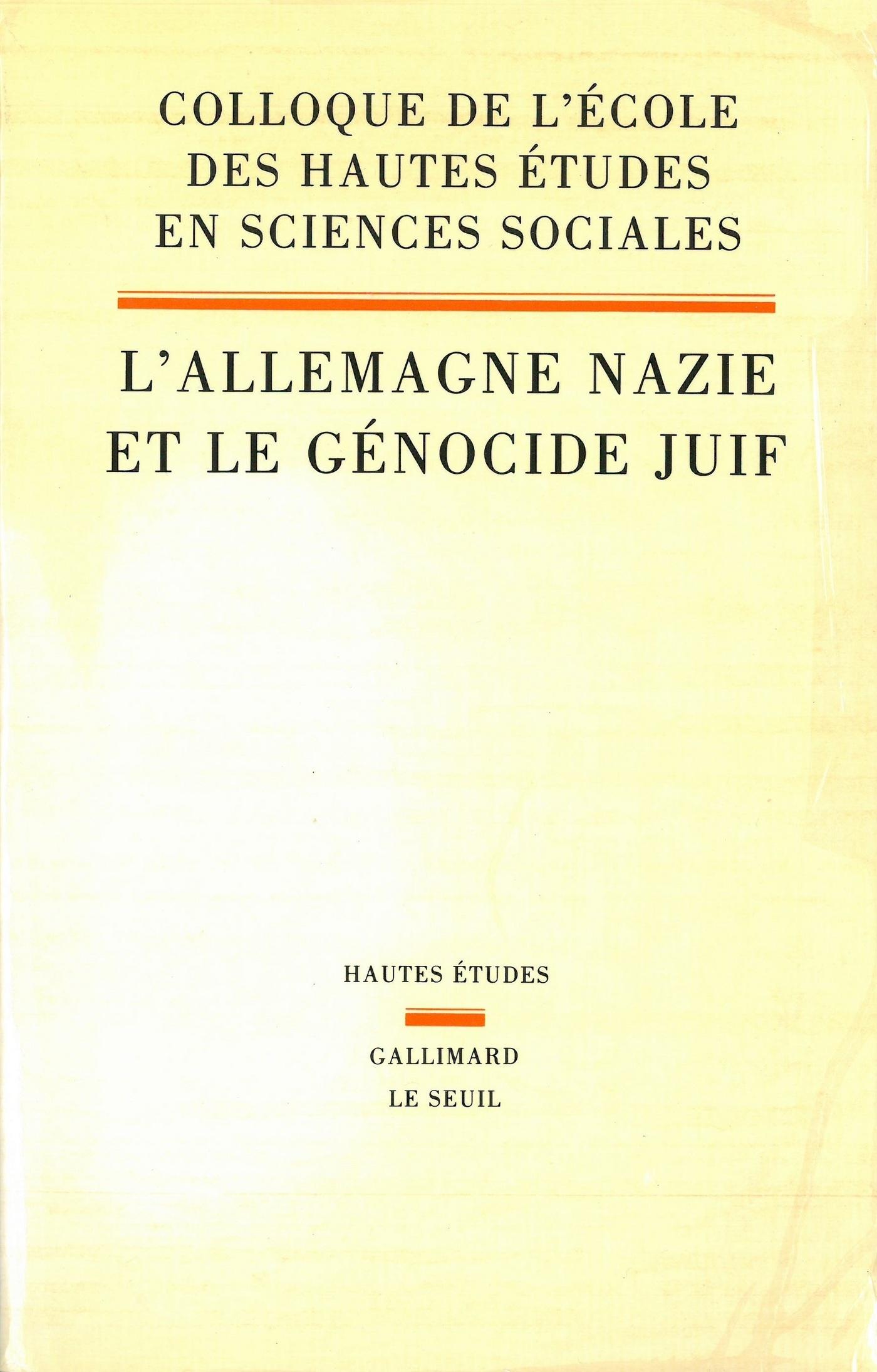 L'Allemagne nazie et le Génocide juif