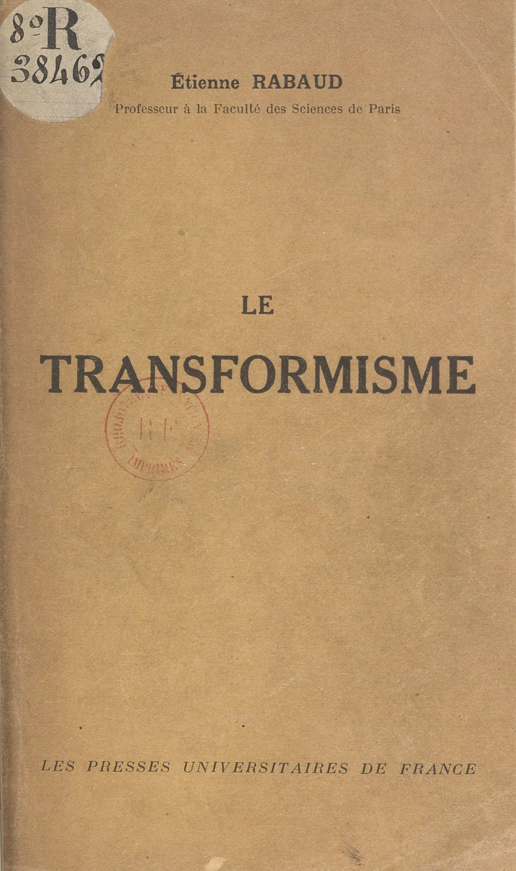 Le transformisme (1)