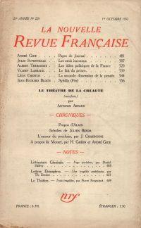 La Nouvelle Revue Française N° 229 (Octobre 1932)