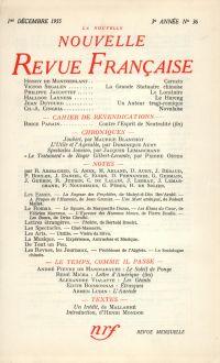 La Nouvelle Nouvelle Revue Française N' 36 (Décembre 1955)