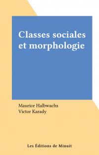 Classes sociales et morphol...