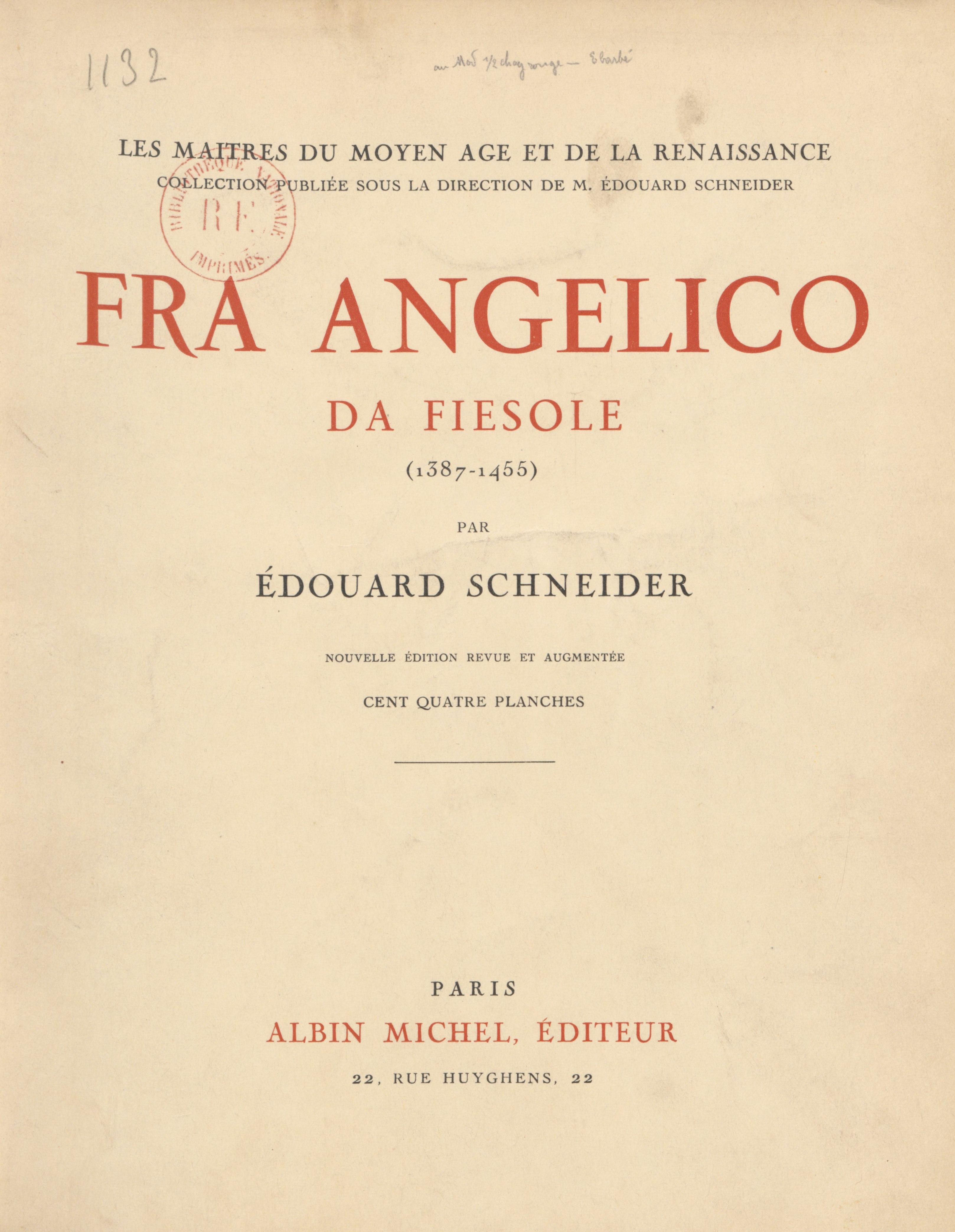 Fra Angelico da Fiesole (1387-1455)