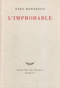 L'improbable et autres essais