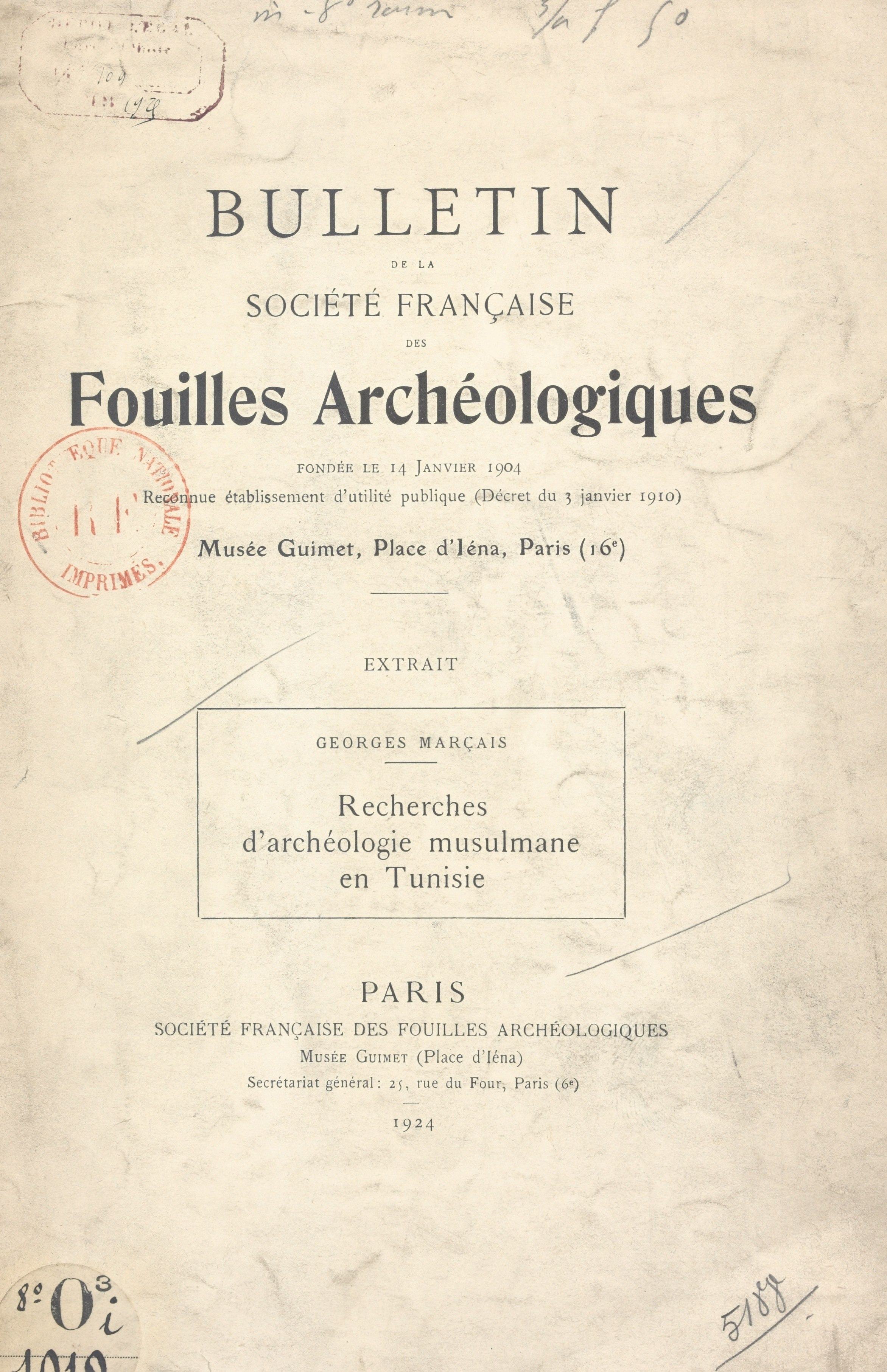 Recherches d'archéologie mu...