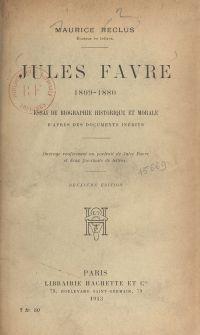 Jules Favre, 1809-1880