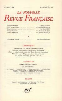 La Nouvelle Revue Française N' 164 (Aoűt 1966)