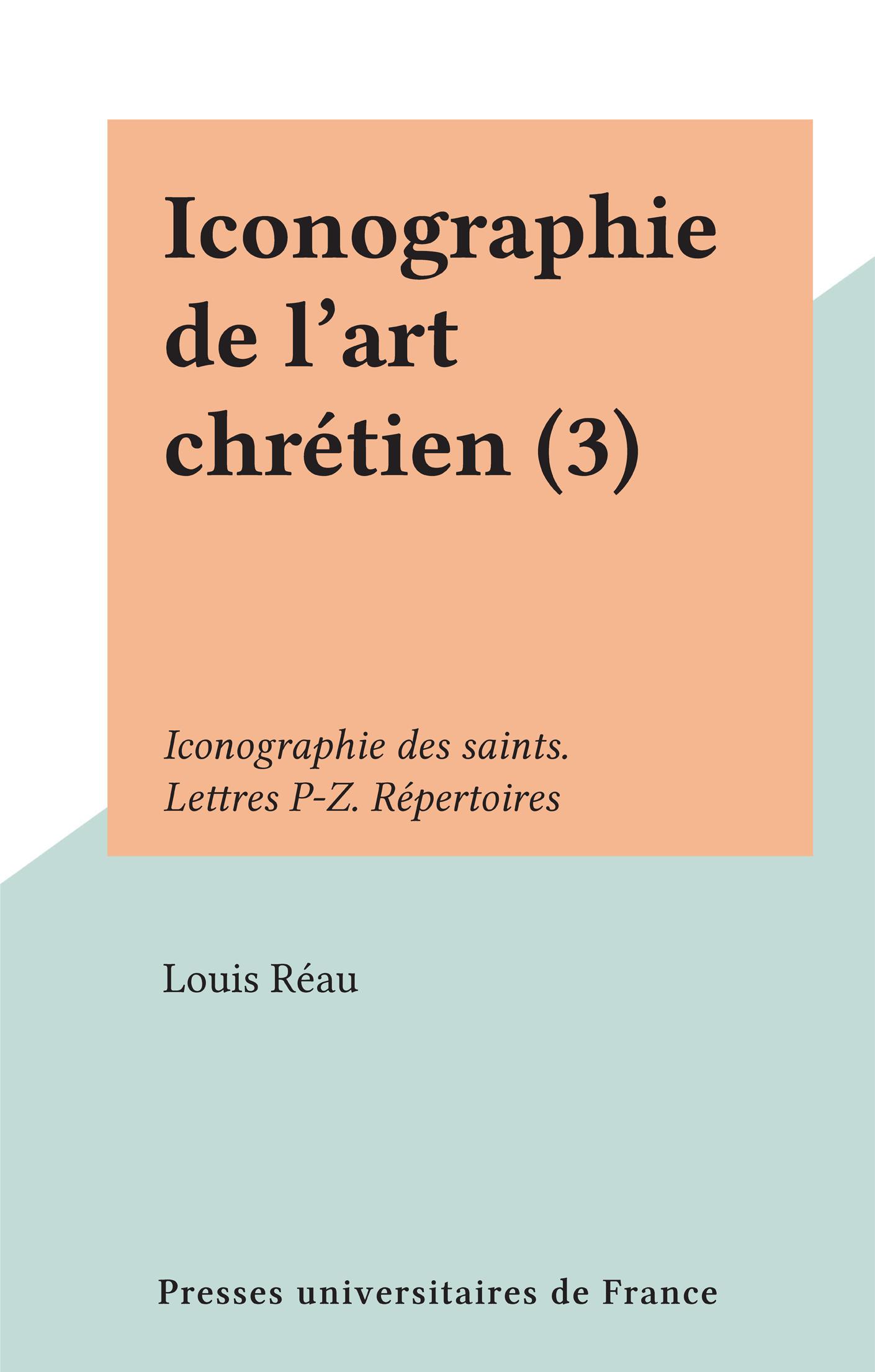 Iconographie de l'art chrét...