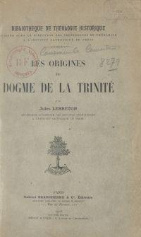 Les origines du dogme de la...