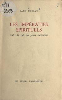 Les impératifs spirituels c...