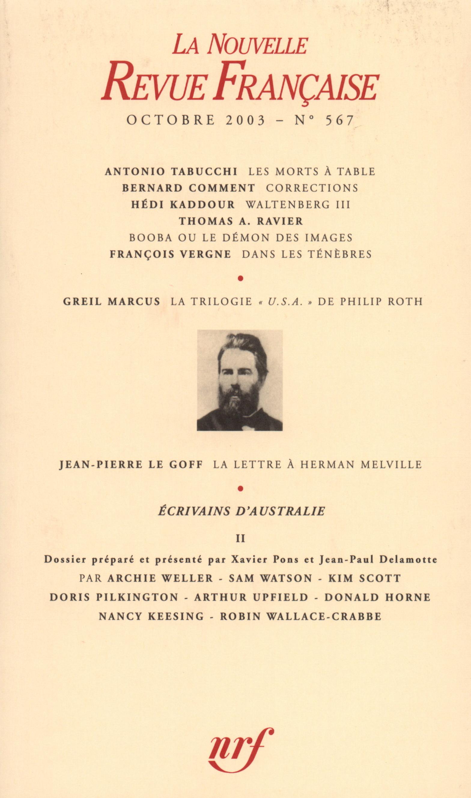 La Nouvelle Revue Française N° 567