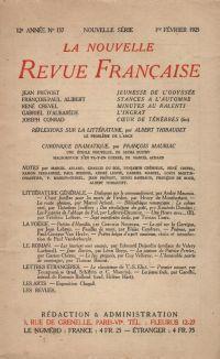 La Nouvelle Revue Française N' 137 (Février 1925)