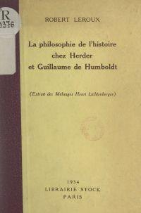 La philosophie de l'histoir...
