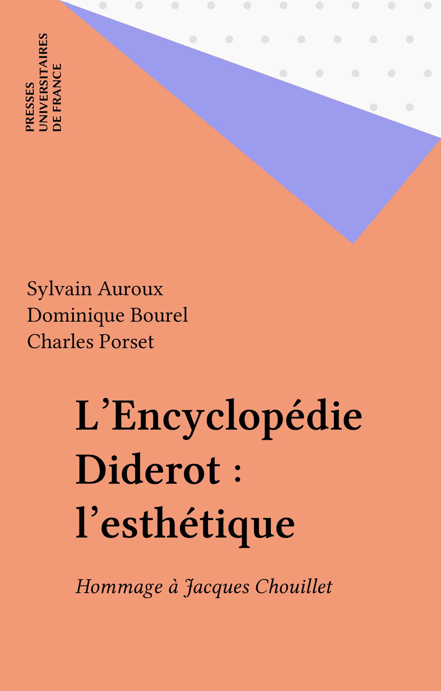 L'Encyclopédie Diderot : l'esthétique