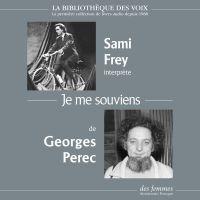 Je me souviens | Perec, Georges. Auteur