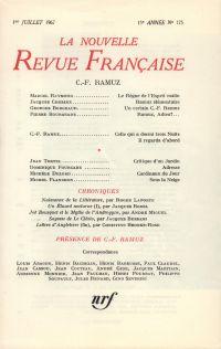 C.-F. Ramuz N' 175 (Juillet 1967)