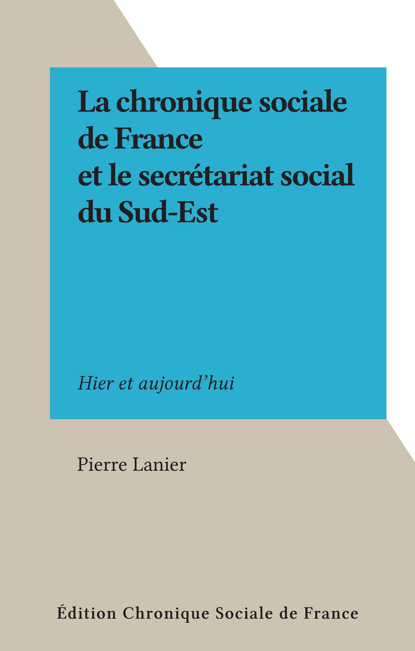 La chronique sociale de Fra...