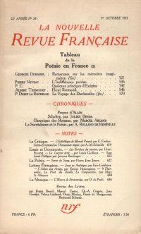La Nouvelle Revue Française N° 241 (Octobre 1933)
