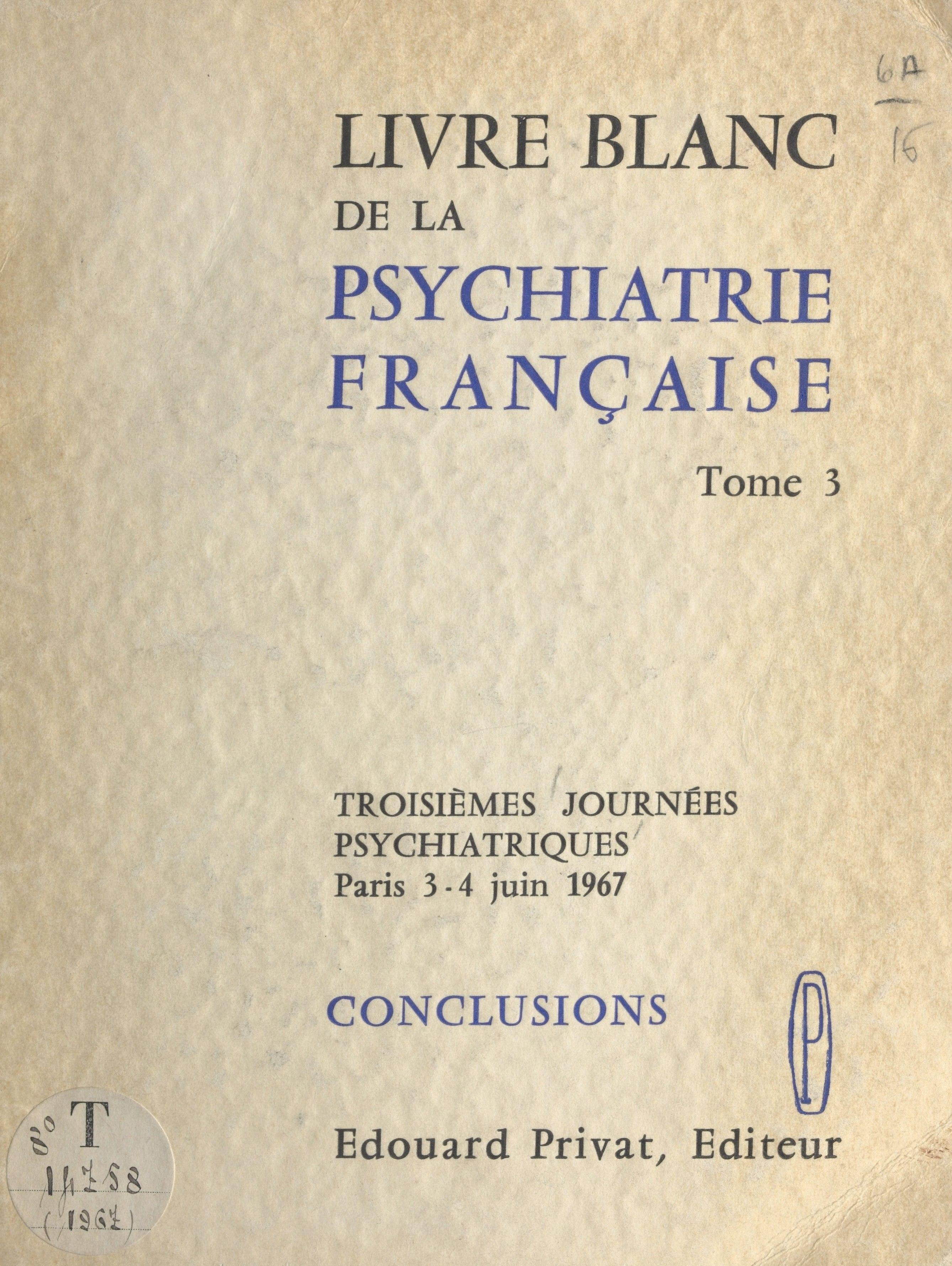 Livre blanc de la psychiatrie française (3)