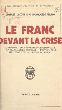 Le franc devant la crise