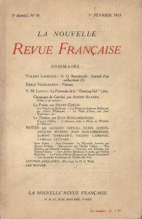 La Nouvelle Revue Française N' 50 (Février 1913)